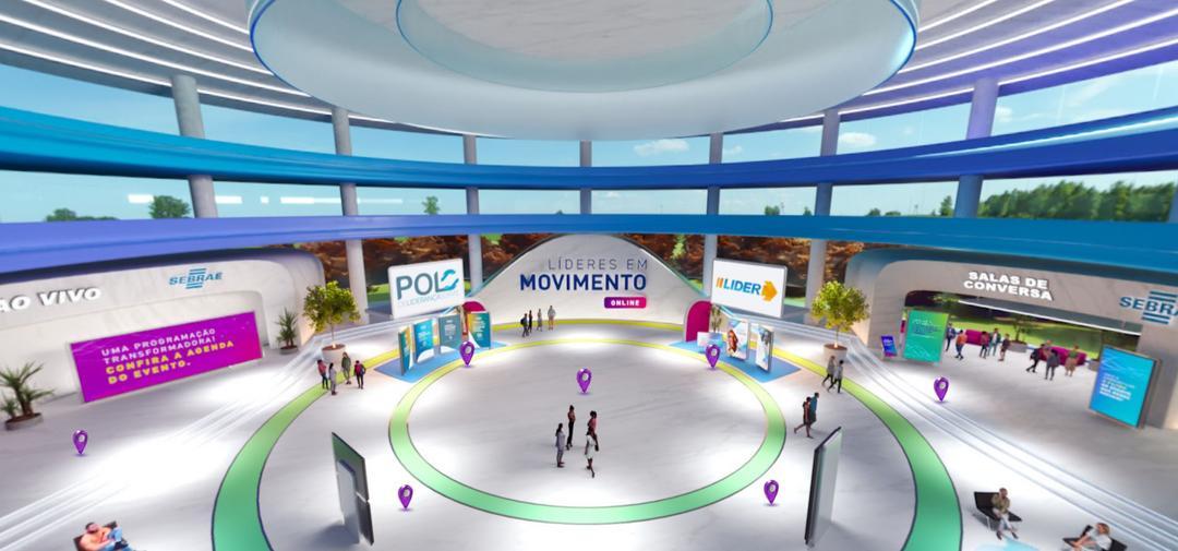 Tour exclusivo na plataforma 3D do Líderes em Movimento 2021